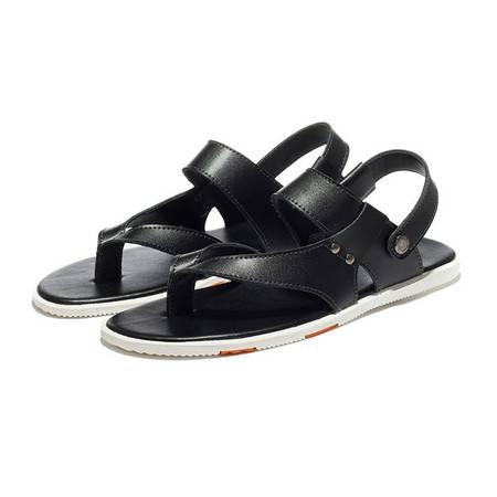 夏季新款时尚男鞋凉鞋头层牛皮
