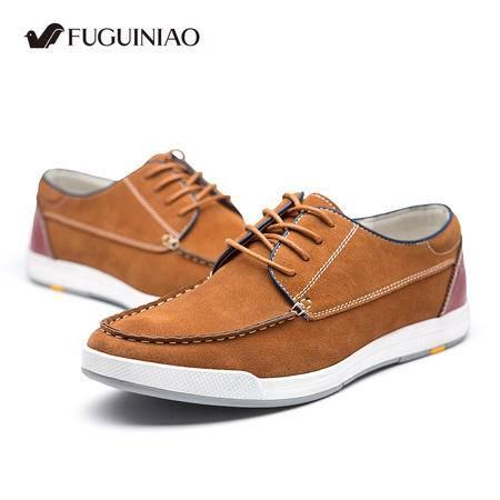 男鞋夏季男士韩版真皮系带板鞋男鞋潮流透气运动休闲鞋