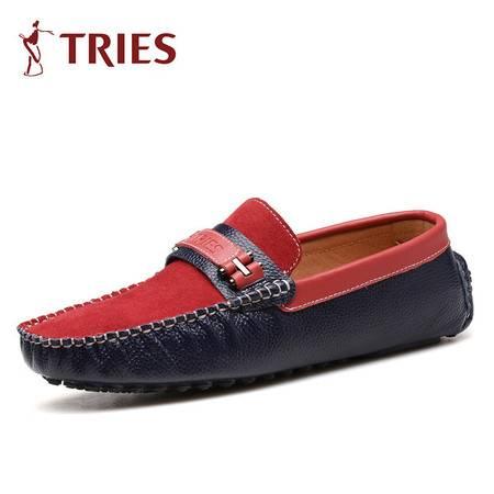 夏季新款时尚男士休闲舒适平底鞋驾车鞋