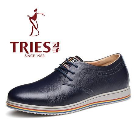 夏季新款时尚男鞋休闲商务平底男鞋