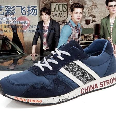 新款时尚休闲运动透气舒适男鞋