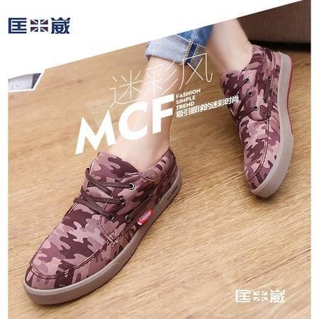 时尚舒适休闲迷彩运动帆布女鞋