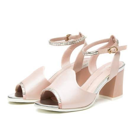 王菲儿20115新夏季一字扣湘钻凉鞋低跟学生风凉鞋时尚女鞋