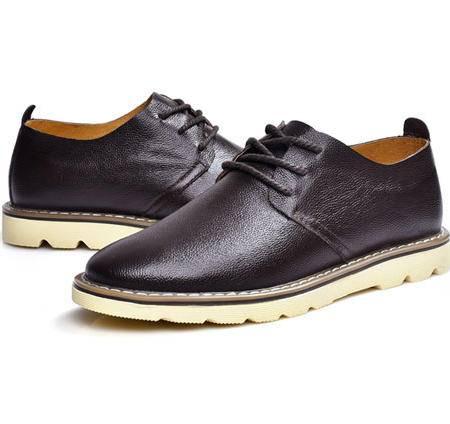 古奇天伦 伐木鞋 休闲鞋子头层牛皮男鞋 真皮板鞋