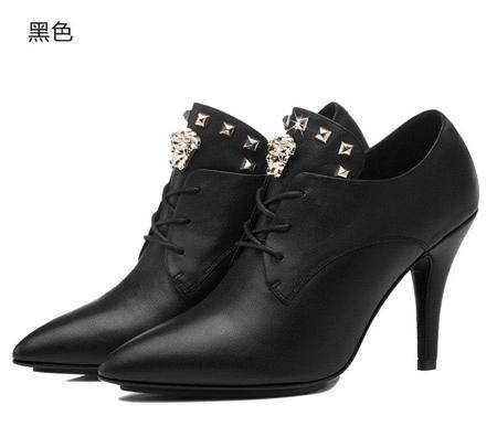 古奇天伦 头层羊皮女鞋 尖头高跟鞋 时尚细跟女鞋子