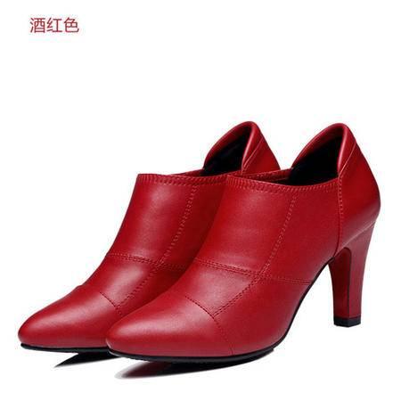 古奇天伦 8144 尖头女鞋 细跟高跟鞋 休闲低帮鞋子