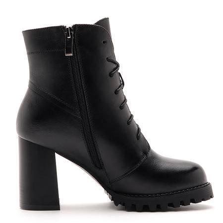 莫蕾蔻蕾冬天新款马丁靴女真皮英伦粗跟女靴子高跟防水台短靴牛皮