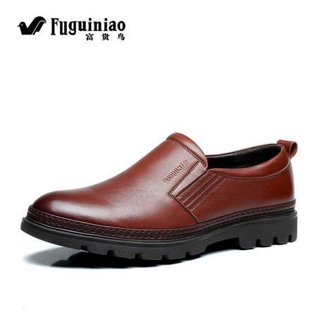 男士休闲鞋透气牛皮鞋真皮低帮春秋新款英伦商务皮鞋