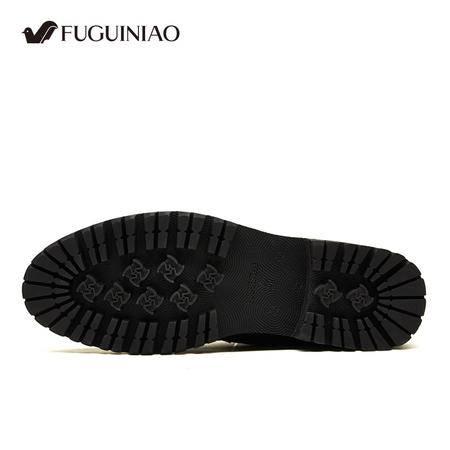 富贵鸟男鞋真皮皮鞋冬季男士皮靴雪地保暖棉鞋加绒毛