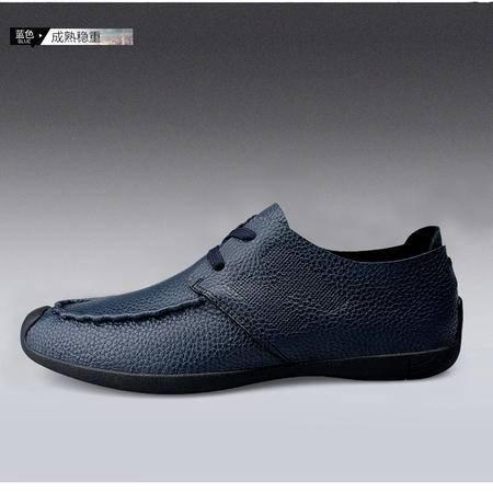 鳄鱼牛皮潮鞋商务时尚低帮鞋男鞋英伦休闲鞋驾车