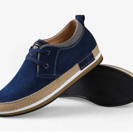 Zjieyu 鳄鱼增高鞋小码鞋子隐形内增高男鞋真皮休闲板鞋