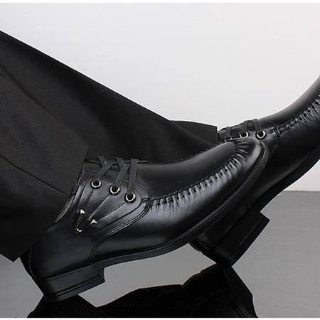 Zjieyu/ 鳄鱼男鞋透气低帮鞋商务休闲皮鞋英伦头层软面皮系带
