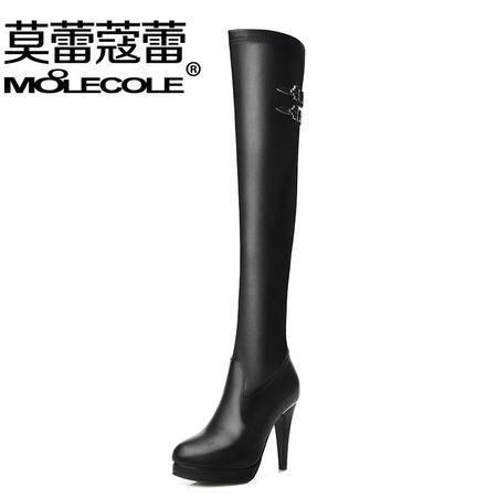 莫蕾蔻蕾 细跟超高跟女鞋时尚新款圆头