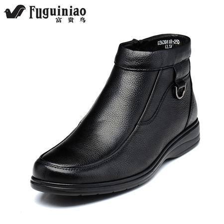 富贵鸟 耐磨低帮鞋子男中帮男鞋春商务时尚休闲皮鞋英伦