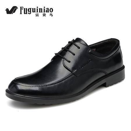 富贵鸟男士英伦正装皮鞋商务皮鞋婚鞋夏季办公室真皮尖头鞋子