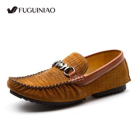 富贵鸟 懒人驾车鞋新款豆豆鞋正品男士商务休闲鞋英伦潮流套脚