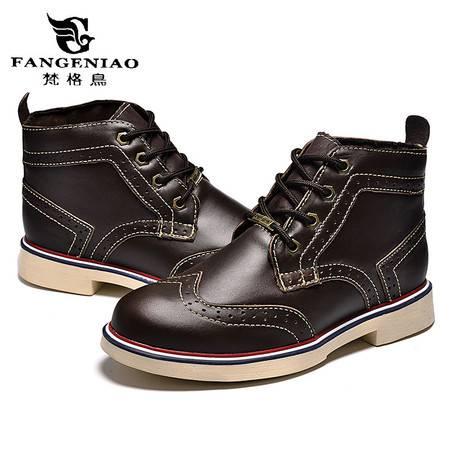 精品男鞋休闲鞋情侣鞋男女马丁靴短靴时尚潮流真皮鞋子