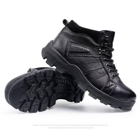 精品男鞋秋冬新款加绒鞋子短靴休闲鞋真皮鞋子靴子