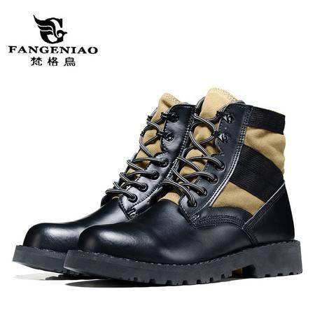 精品男鞋男靴雪地靴马丁靴工装鞋保暖靴秋冬新款鞋子