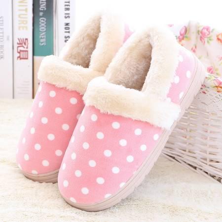 冬季棉拖鞋包跟厚底情侣家居防滑保暖居家男女月子拖鞋