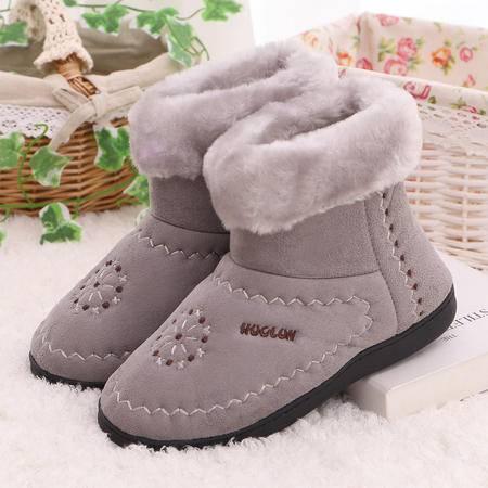 男女加厚冬季室内地板超柔绒保暖包跟毛口棉拖鞋