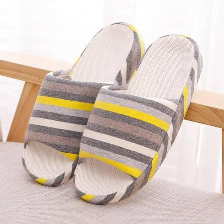 木地板家居秋季女夏季纯棉居家室内女士日系拖鞋春厚底