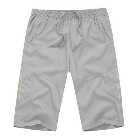 夏季男装新品七分裤透气柔软 户外速干裤晨练跑步中老年大码
