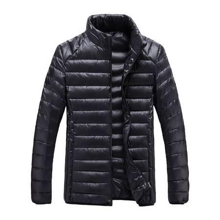 高端大气优质立领轻薄90白鸭绒男式运动户外羽绒服冬季上衣