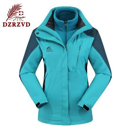 新款女士户外运动两件套防水透气保暖滑雪登山服