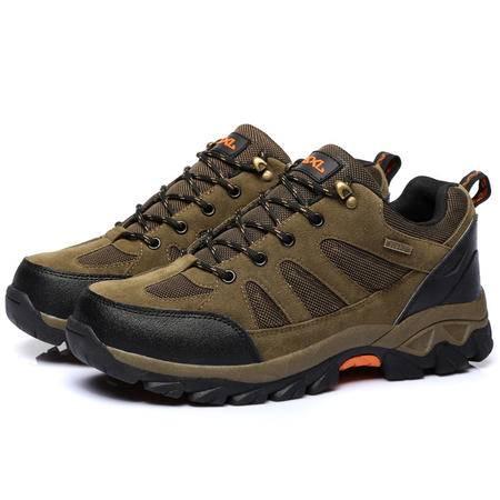 休闲徒步登山鞋 男女情侣款进口皮革时尚户外休闲鞋
