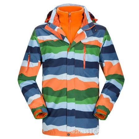 户外秋冬新款两件套儿童款冲锋衣