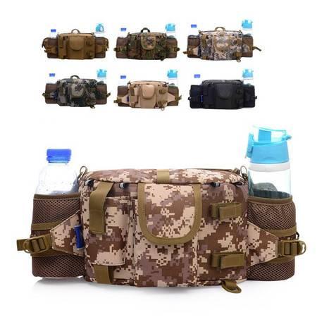 新款尼龙防水时尚欧美户外多袋位实用战术腰包