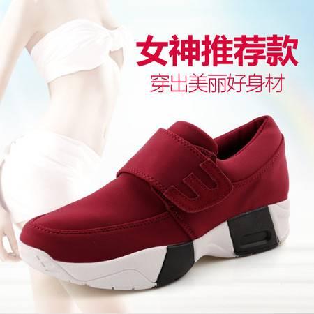 韩版乐福鞋潮厚底松糕鞋内增高帆布鞋女休闲运动鞋