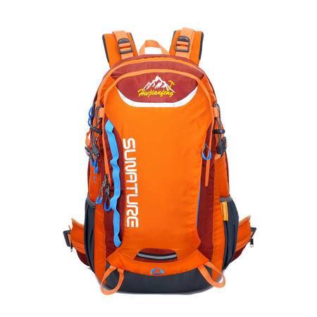 专业登山包撞色休闲防水尼龙户外旅行包 情侣双肩背包