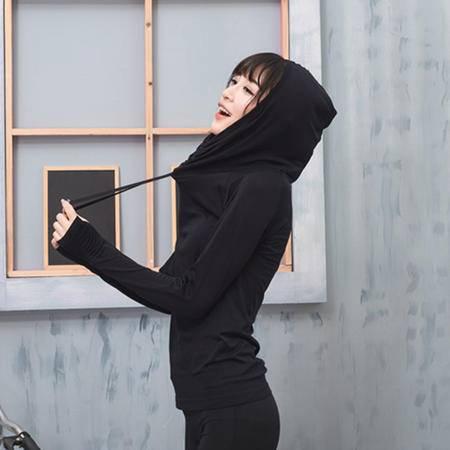 户外运动健身卫衣帽衫长裤跑步瑜伽服套装