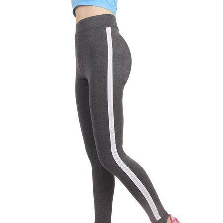 韩版时尚女 夏季棉薄款休闲运动打底裤修身显瘦健身跑步小脚裤
