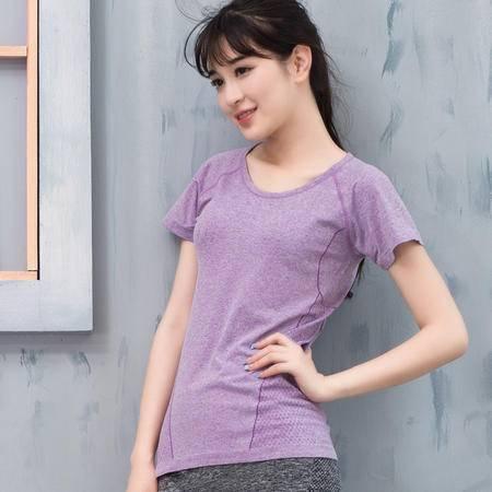 韩版新款速干排汗健身短袖t恤夏季女户外跑步瑜伽服跳操运动衣