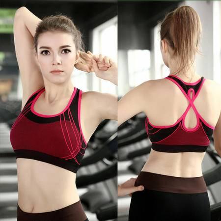 无钢圈时尚运动文胸聚拢交叉背心速干跑步健身瑜伽内衣