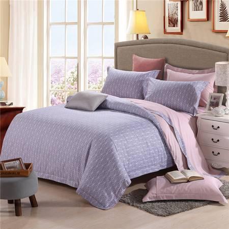 床上用品被枕套新款 全棉天丝13372宽边工艺款四件套
