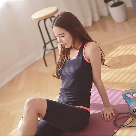 运动瑜伽背心透气排汗显瘦瑜伽健身跑步背心不含胸垫