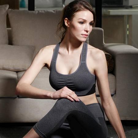 瑜伽防震运动文胸户外健身跑步塑身无痕背心无钢圈睡眠内衣