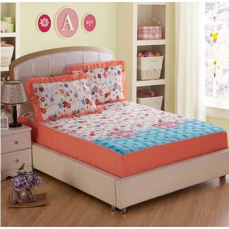 床上用品被枕套全棉夹棉绗缝床笠配四件套