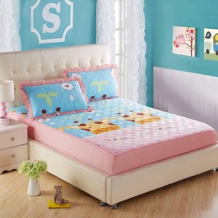 床上用品被枕套全棉夹棉绗缝床笠单品1