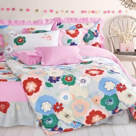 床上用品四件套纯棉多规格四件套时尚床裙款