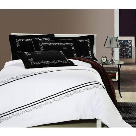 床上用品被枕套精梳棉绣花活性全棉四件套