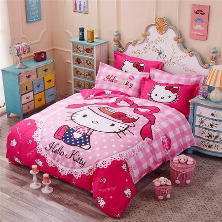 床上用品被枕套 全棉个性卡通(大版花系列)四件套