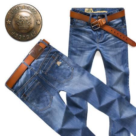 正品男士牛仔裤直筒宽松休闲男装超薄长裤子夏季