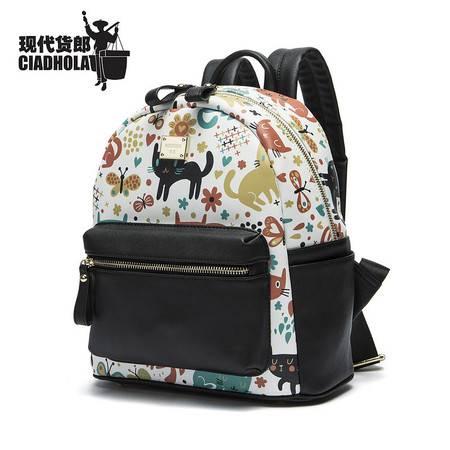 猫咪乐园时尚韩流学生休闲双肩包旅行休闲包包