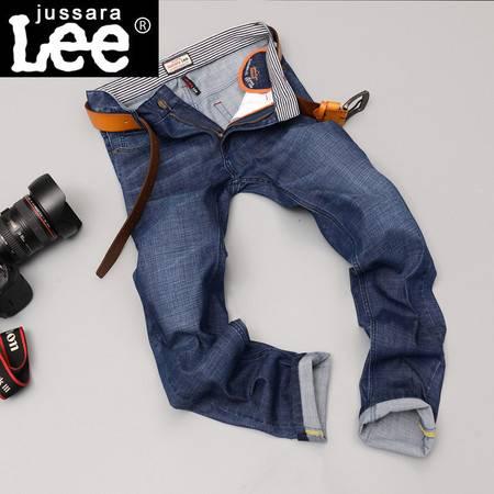 男式牛仔裤时尚弹力修身直筒牛仔男装裤子正品青年裤