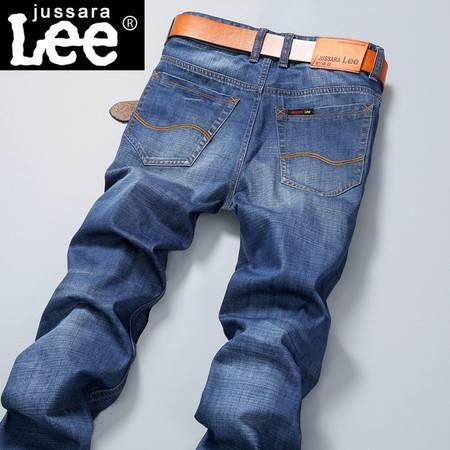 男式牛仔正品春夏新款浅蓝色微弹力男士牛仔男裤子潮